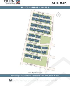 Frisco Springs Site Map Phase 2