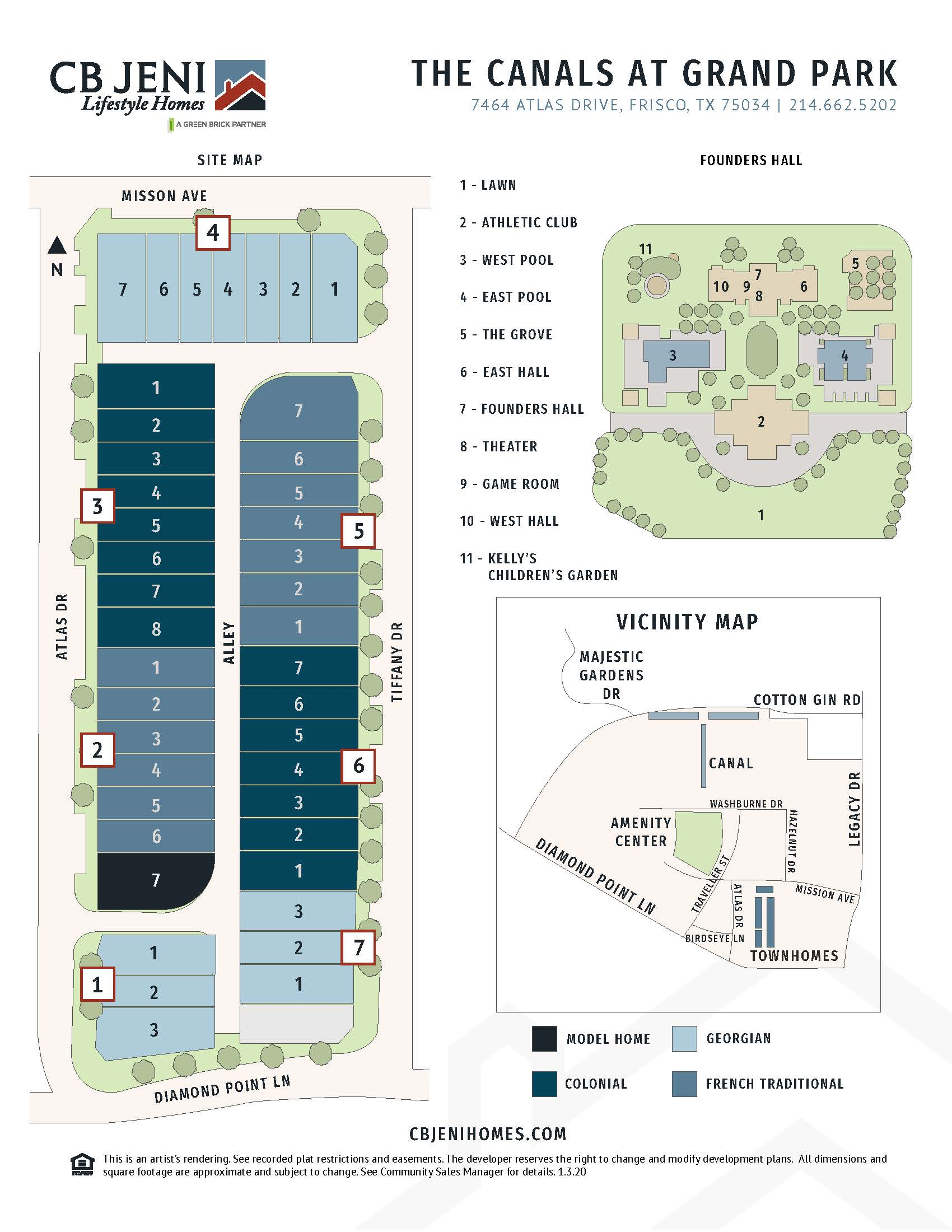 The Canals at Grand Park Site Map