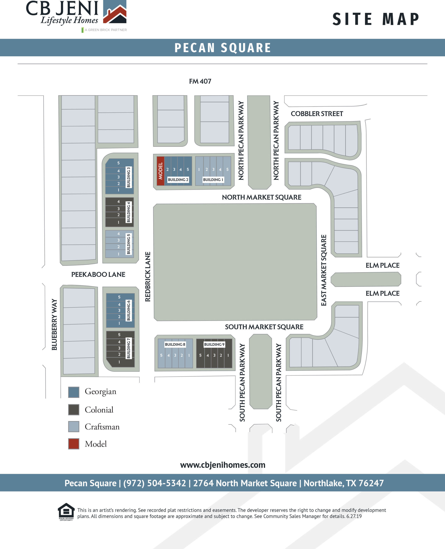 Pecan Square Site Map