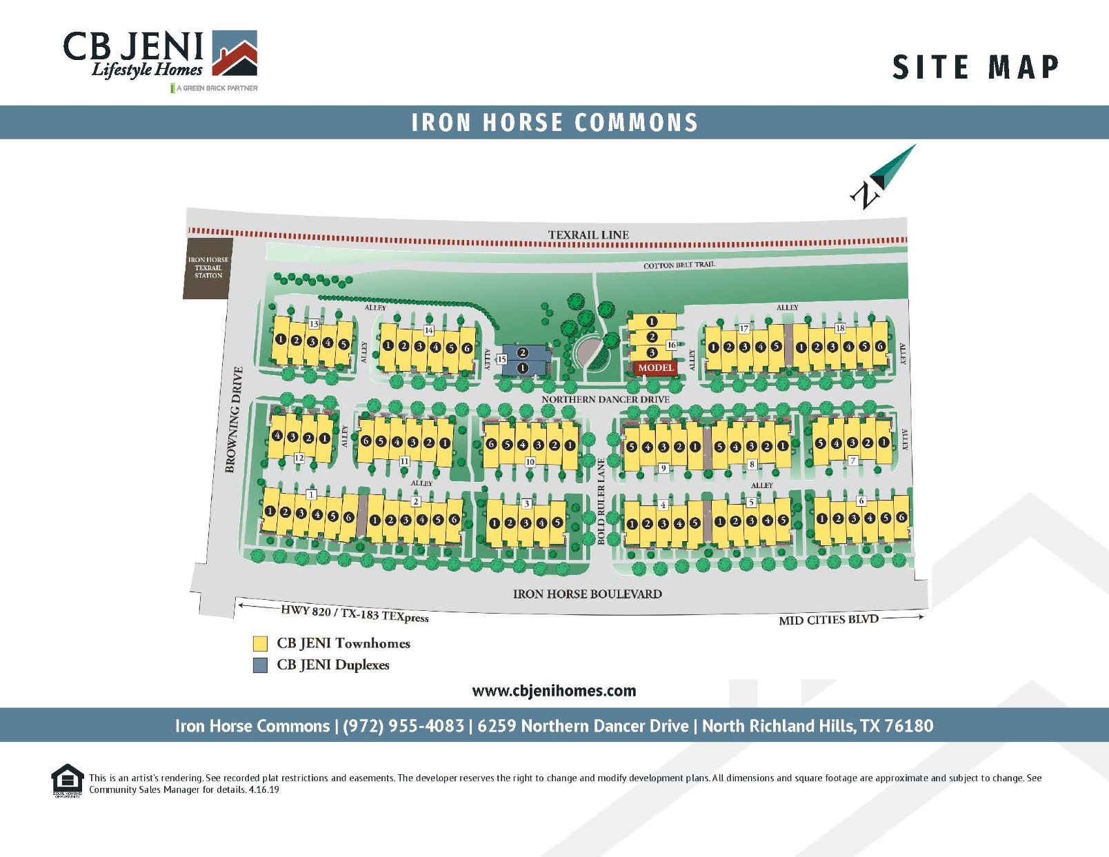 Iron Horse Commons Site Map
