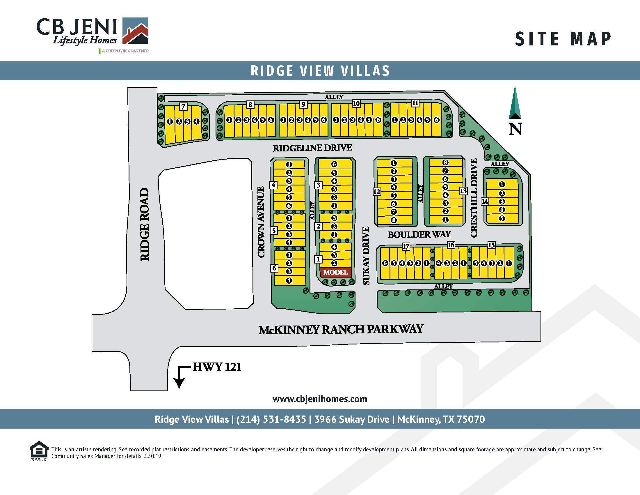 Ridge View Villas Site Map