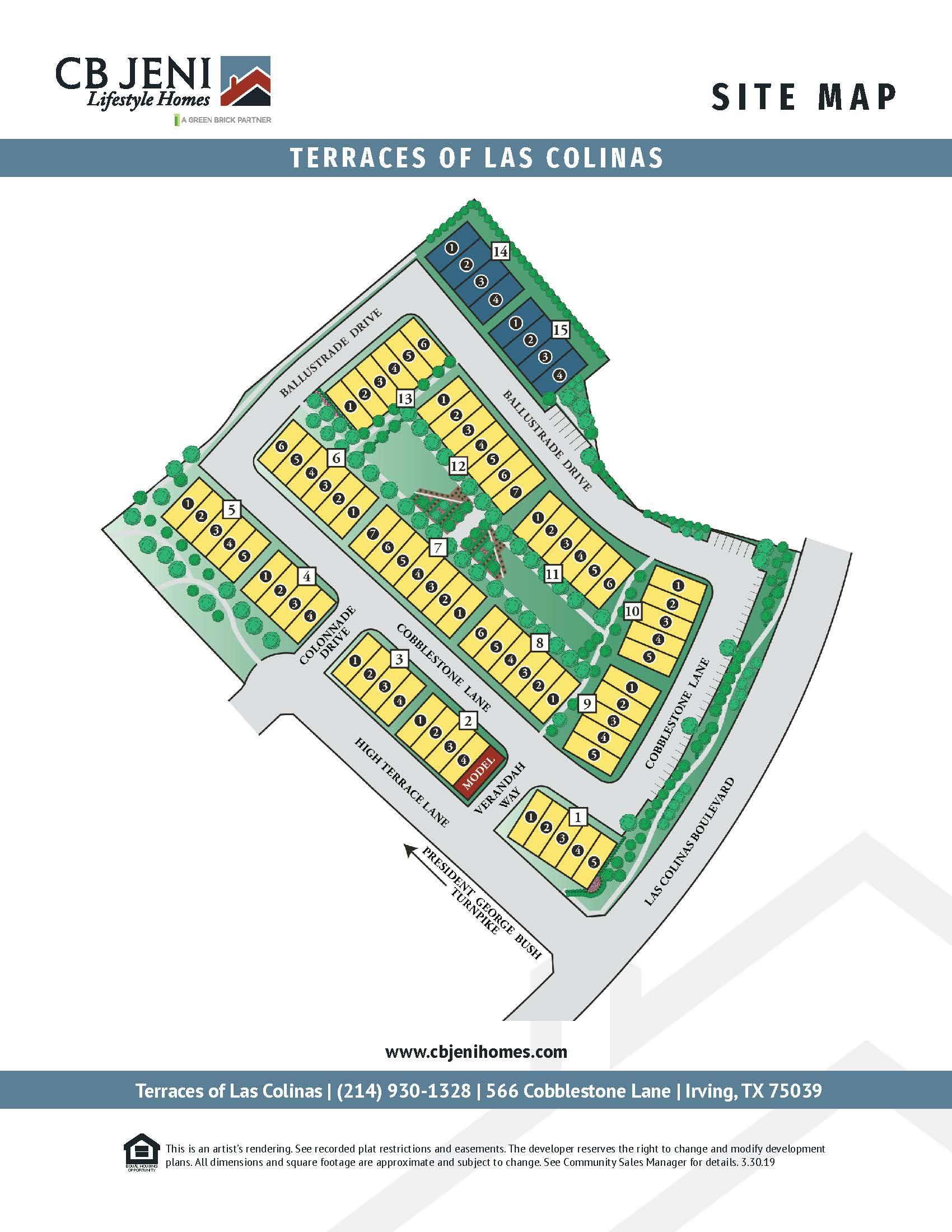Terraces of Las Colinas Site Map