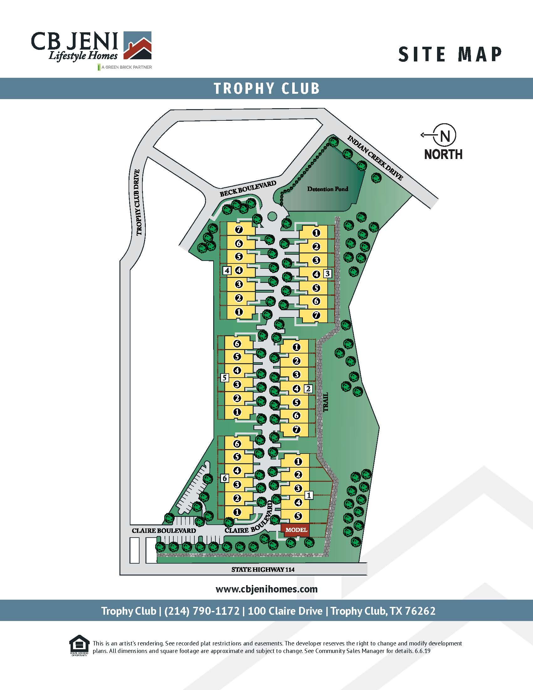 Trophy Club Site Map