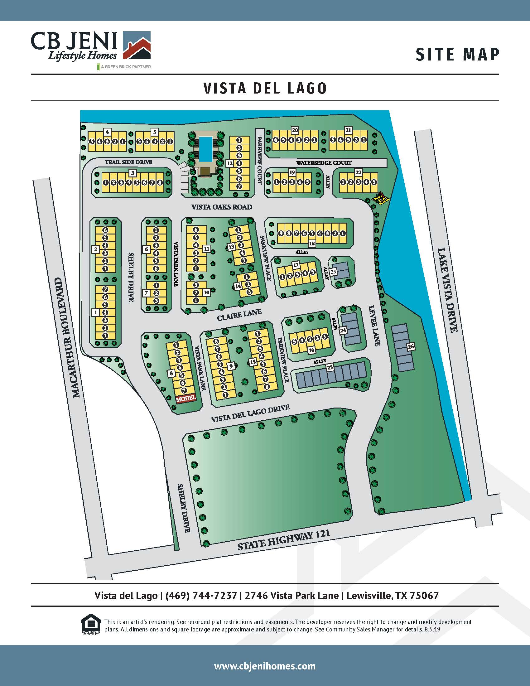 Vista del Lago Site Map